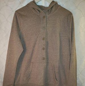 Ladies casual hooded top